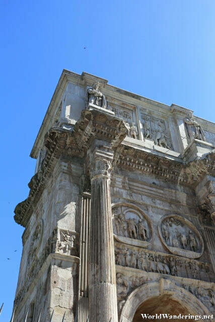 Detail on the Arch of Constantine in Rome