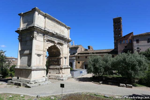 Beautiful Arch at the Palatine Hill in Rome