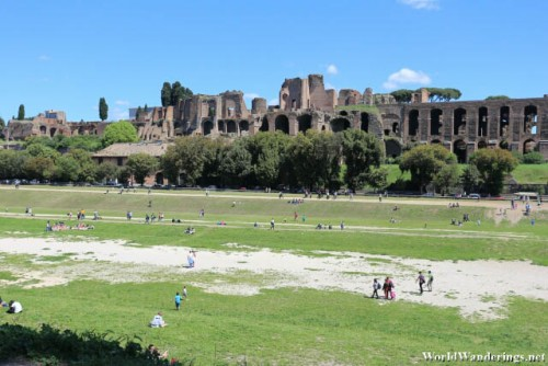 Ruins on the Fringe of the Circus Maximus in Rome
