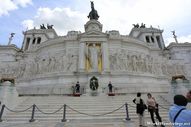 Tomb of the Unknown Soldier at the Altare della Patria in Rome