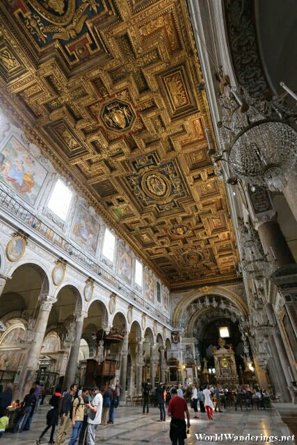 Inside the Church of Santa Maria in Aracoeli in Rome