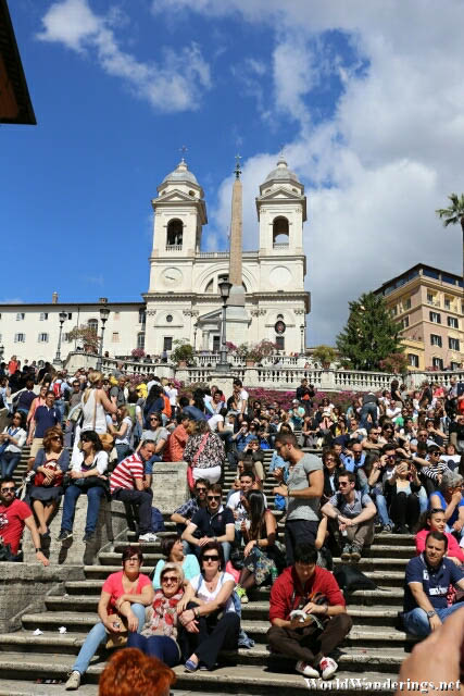 Sight Seeing or People Watching at the Spanish Steps in Rome