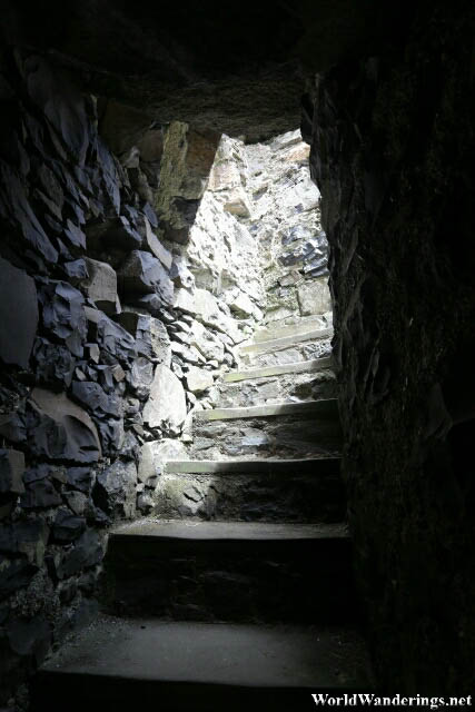 Stairs to the Top of the Watch Tower at Dunluce Castle
