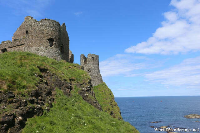 Dunluce Castle's Steep Slopes Provide Great Defense