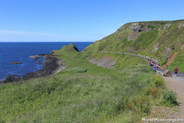 Walking Towards the Giant's Causeway in County Antrim