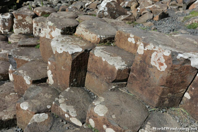 Amazing Hexagonally Cut Rocks at the Giant's Causeway