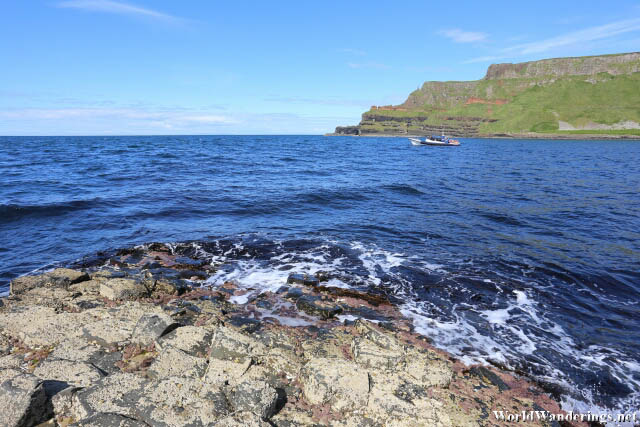 Look at Lacada Point at the Giant's Causeway