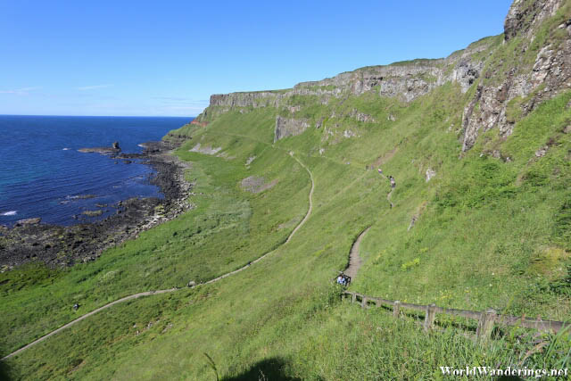 Walking the Shepherd's Path at the Giant's Causeway in County Antrim