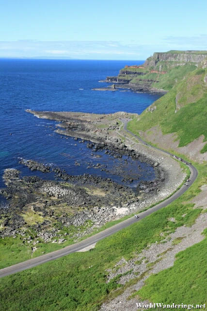 Rugged Coast of the Giant's Causeway at County Antrim