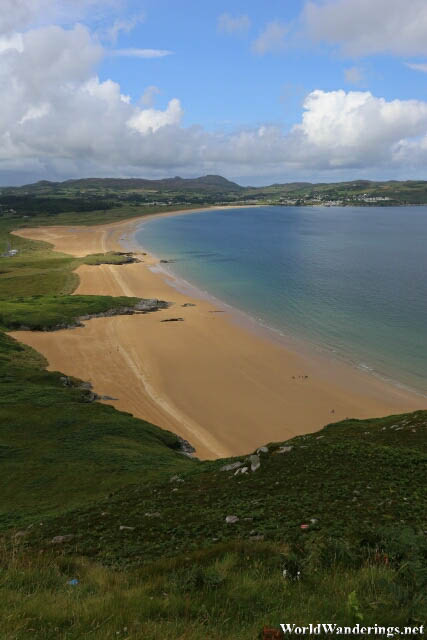 Beautiful Blue Flag Beach Ballymastocker Strand