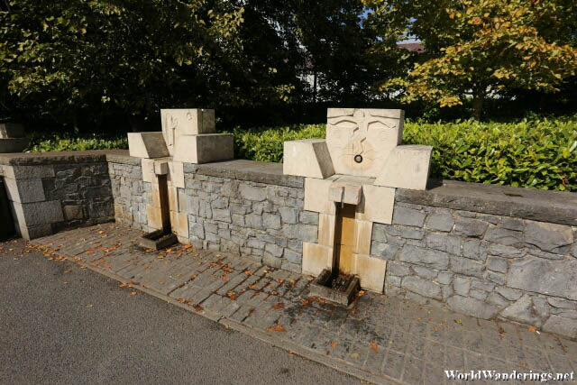 Row of Holy Water Dispensers at Knock Shrine