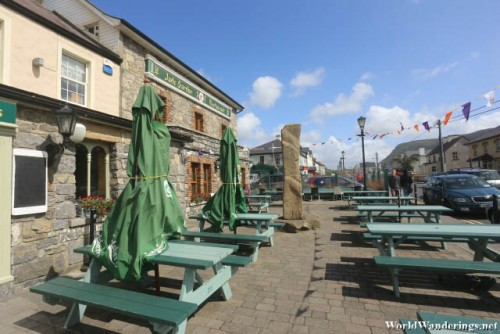 Outside the Strand Bar and Restaurant at Strandhill