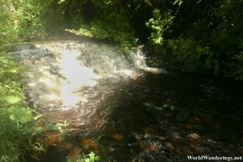 Small Set of Waterfalls at Glencar Waterfalls in County Leitrim