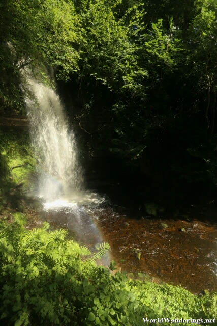 Glencar Waterfalls in County Leitrim