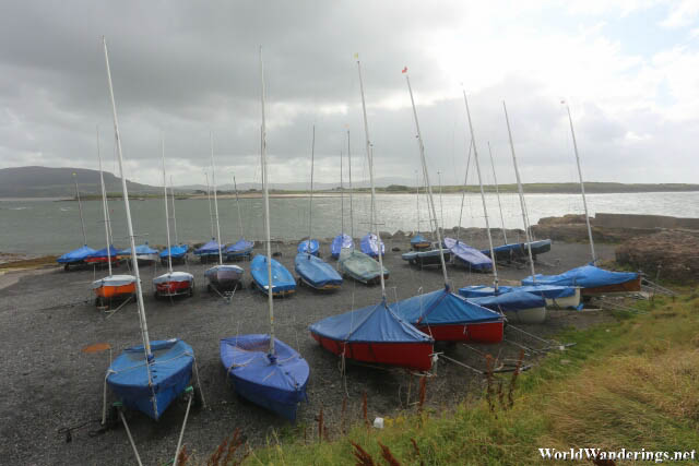 Yachts at the Sligo Yacht Club