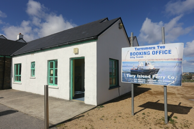 Tory Island Ferry Office at Magheroarty