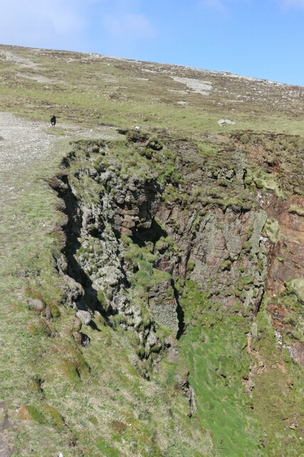 Crumbling Cliff Face at Tory Island