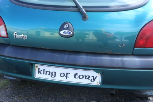 License Plate of the Car of King of Tory