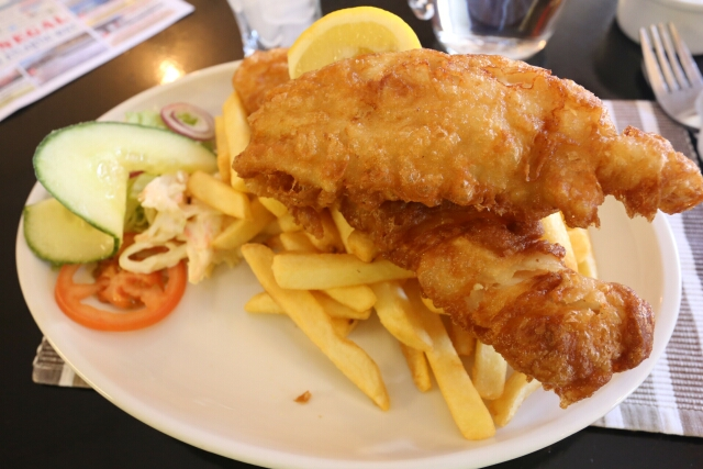 Fish and Chips at An Chistin Restaurant in Dunfanaghy