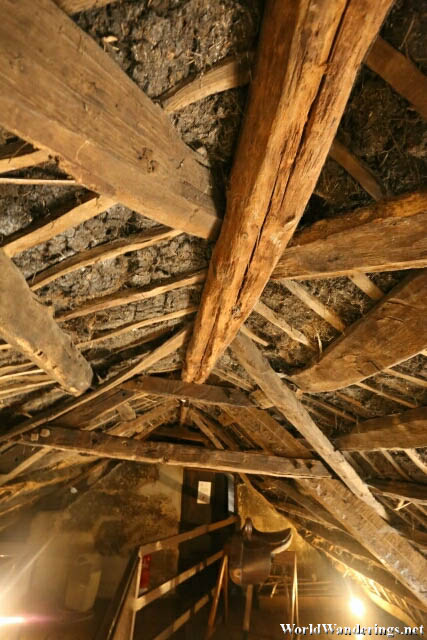 Close Up Look at the Thatch Roof of Hezlett House