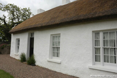 Closer Look at the Thatched Roof at Hezlett House