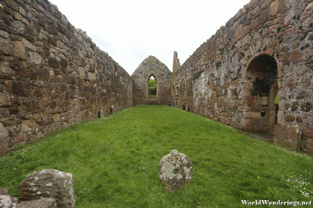 Inside the Bonamargy Friary