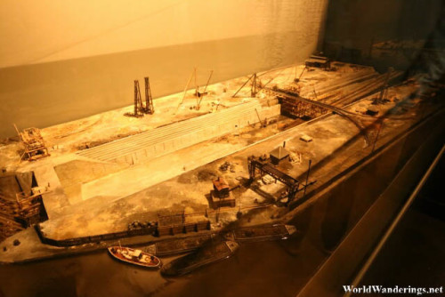 Scale Model of the Shipyard Where the Titanic was Built