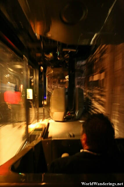Riding One of the Cars in the Theme Park Ride at the Titanic Belfast