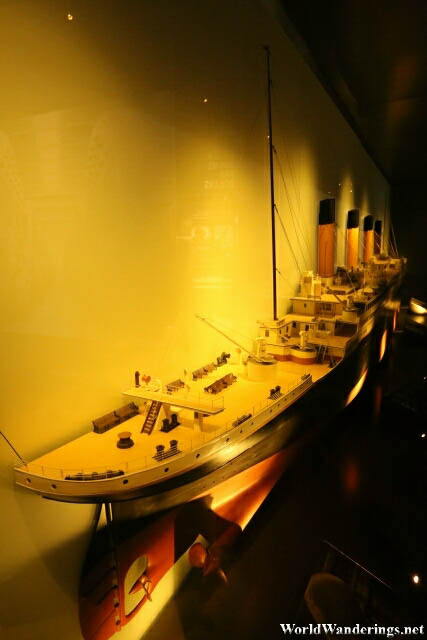 Half of a Scale Model of the RMS Titanic at the Titanic Belfast