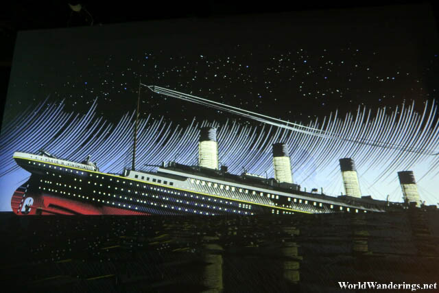 Video of the RMS Titanic in Her Final Moments at the Titanic Belfast