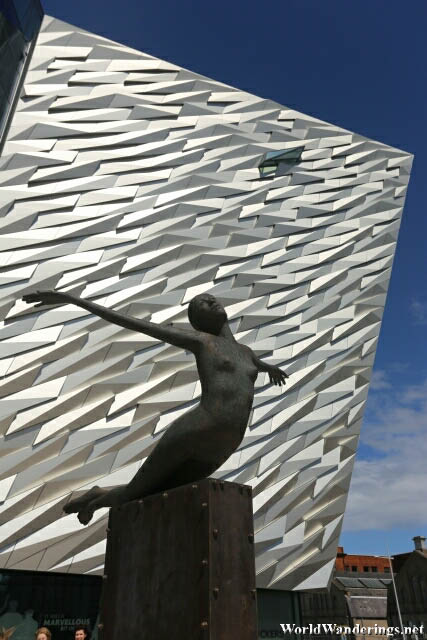 Unfortunately This is Not a Statue of Rose at the Titanic Belfast