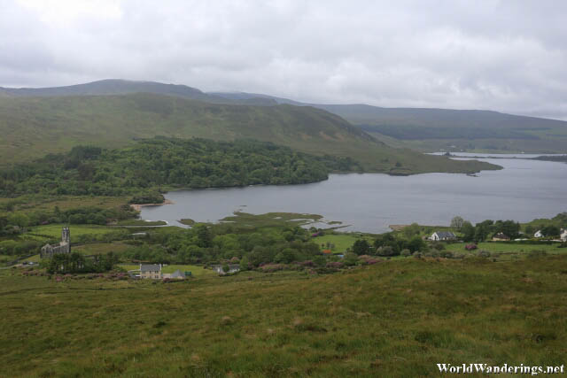Overlooking Lough Dunlewey