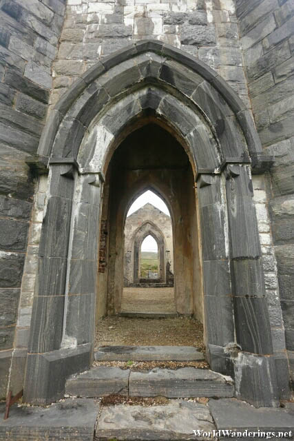 Entering the Ruins of the Dunlewey Church of Ireland