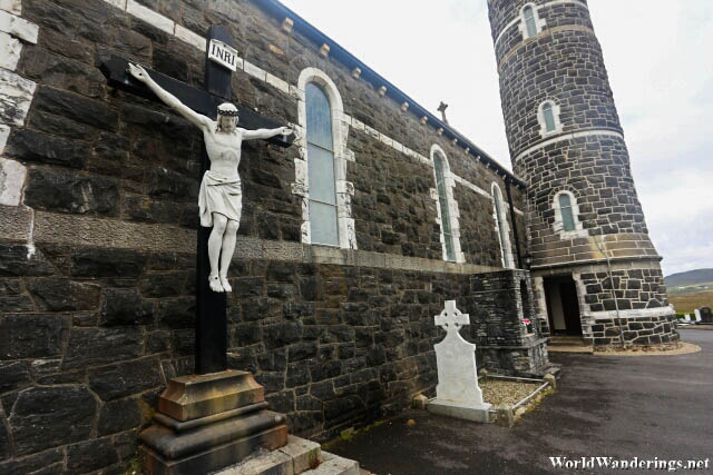 Jesus on the Cross at the Church of the Sacred Heart in Dunlewey