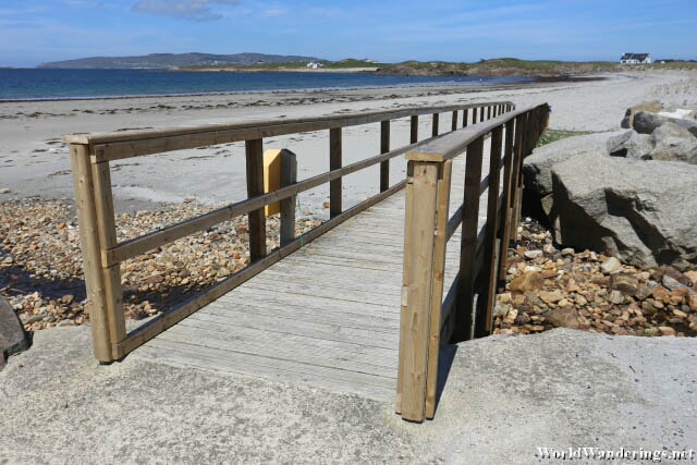 Wooden Bridge to the Beach at Crohy