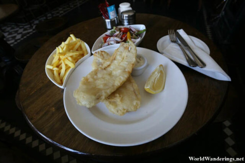 My Sorry Plate of Fish and Chips at a Pub in Dungloe