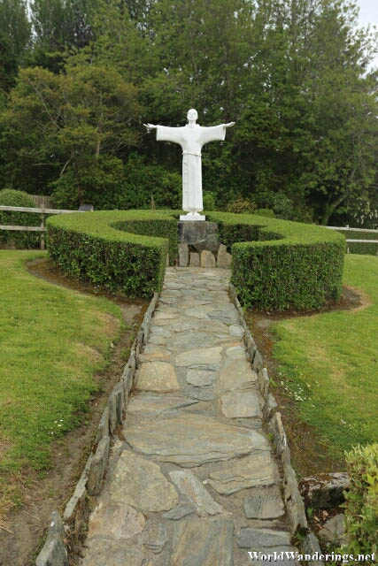Statue of Saint Francis of Assisi at the Ards Friary