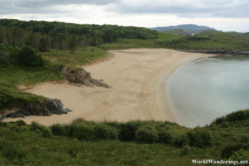 View of the Secluded Beach at Ards Forest Park
