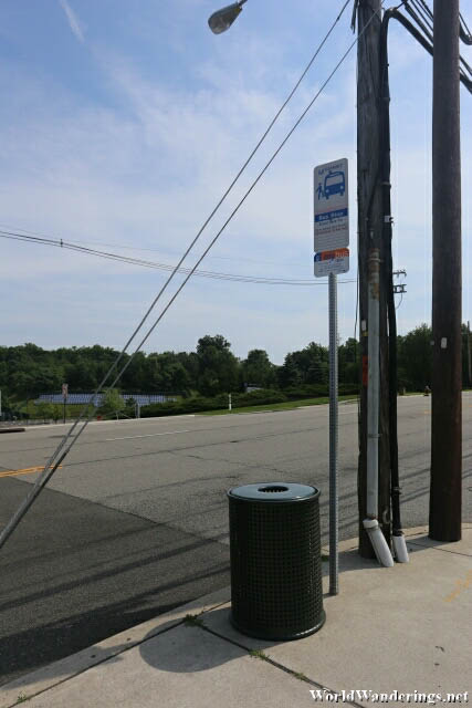 Bus Stop at Livingston New Jersey