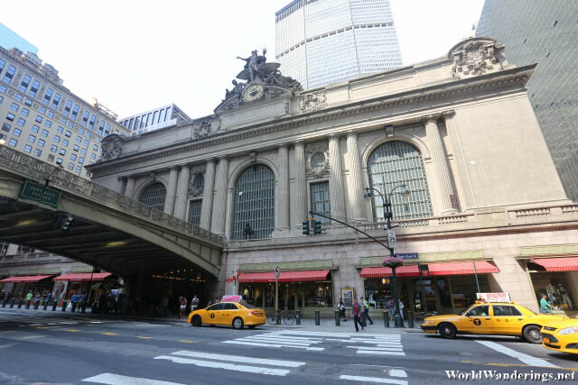 Outside the Grand Central Terminal in New York City