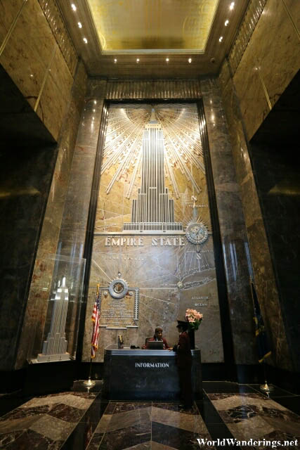 Information Desk of the Empire State Building