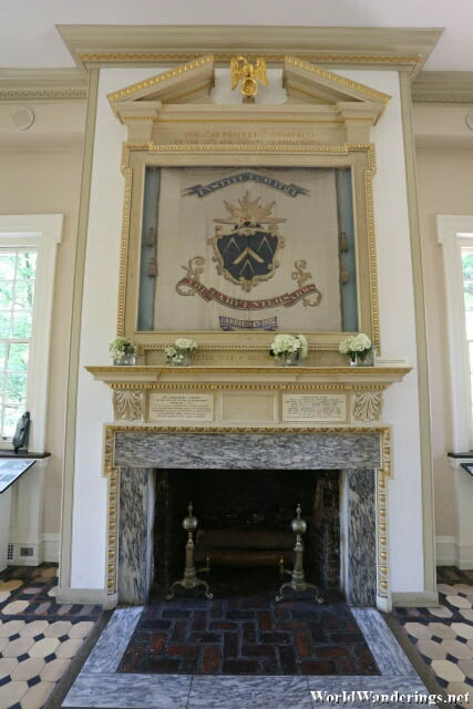 Fireplace at the Carpenter's Hall
