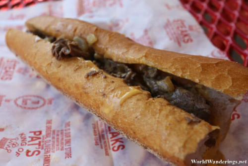 Pat's King of Steaks Philadelphia Cheese Steak Sandwich
