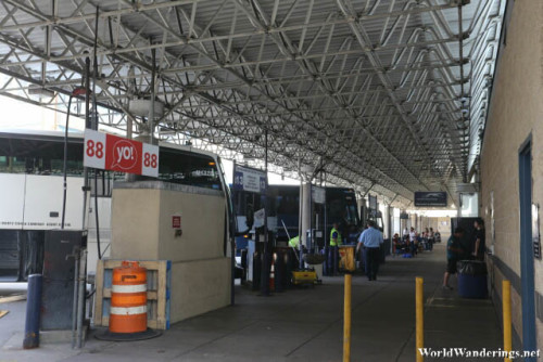 Loading Bays at the Bus Terminal in Philadelphia