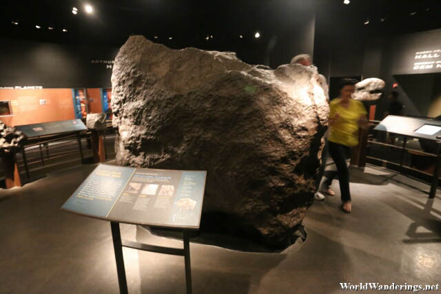Ahnighito a Fragment of the Cape York Meteorite on Display at the American Museum of Natural History