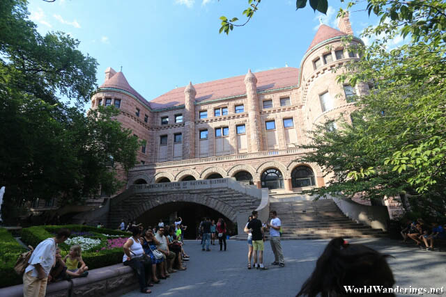 Outside the American Museum of Natural History
