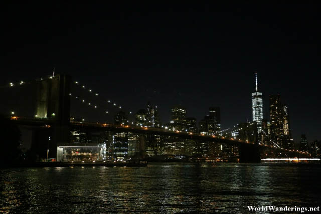 New York City and the Brooklyn Bridge at Night