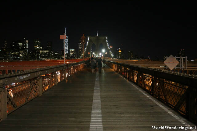 Wooden Walkway at the Brooklyn Bridge
