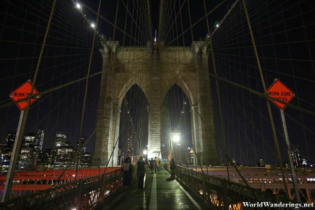 One of the Supports of the Brooklyn Bridge