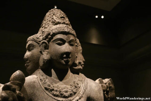 Buddhist Statue at the Metropolitan Museum of Art in New York